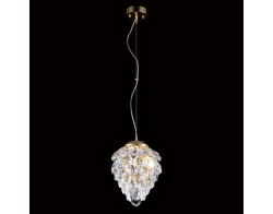 Crystal Lux CHARME SP1+1 LED GOLD/TRANSPARENT