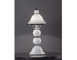 Voltolina Canaletto 1L Table Lamp Black inserts Nickel