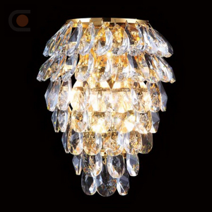 Crystal Lux CHARME AP2+2 LED GOLD/TRANSPARENT 1372/404