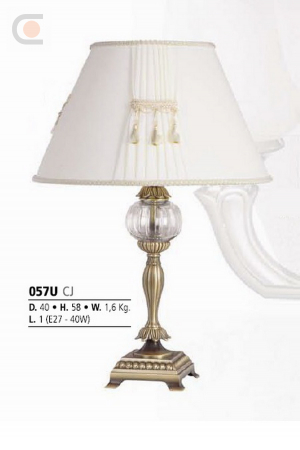 Riperlamp 057U 01.AA-AB-AE-AH-AM-AQ-AY-BG-BJ-BQ-CJ CREAM SHADE