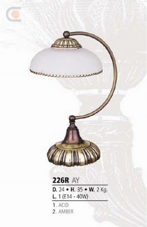 Riperlamp 226R 01.AA-AB-AE-AH-AM-AQ-AY-BG-BJ-BQ-CJ AMBER
