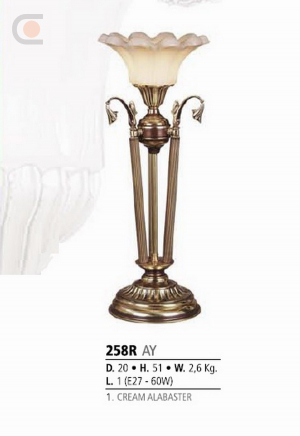 Riperlamp 258R 01.AM-AQ-AY-BG-BJ-BQ-CJ CREAM ALABASTER