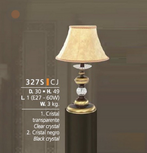 Riperlamp 327S 01.AM-AQ-AY-BG-BJ-BQ-CJ CLEAR GLASS-CREAM SHADE
